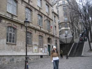 "me in montmartre, the ""artists' district"""